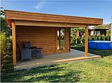 Альтанка дерев'яна з профільованого бруса 5х5 м. низька ціна від виробника, фото 3