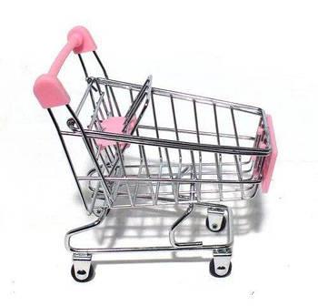 Продуктовая тележка для куклы Барби (розовая)