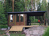 Альтанка дерев'яна з профільованого бруса 3,6х6,2 низька ціна від виробника, фото 2