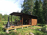 Альтанка дерев'яна з профільованого бруса 3,6х6,2 низька ціна від виробника, фото 4