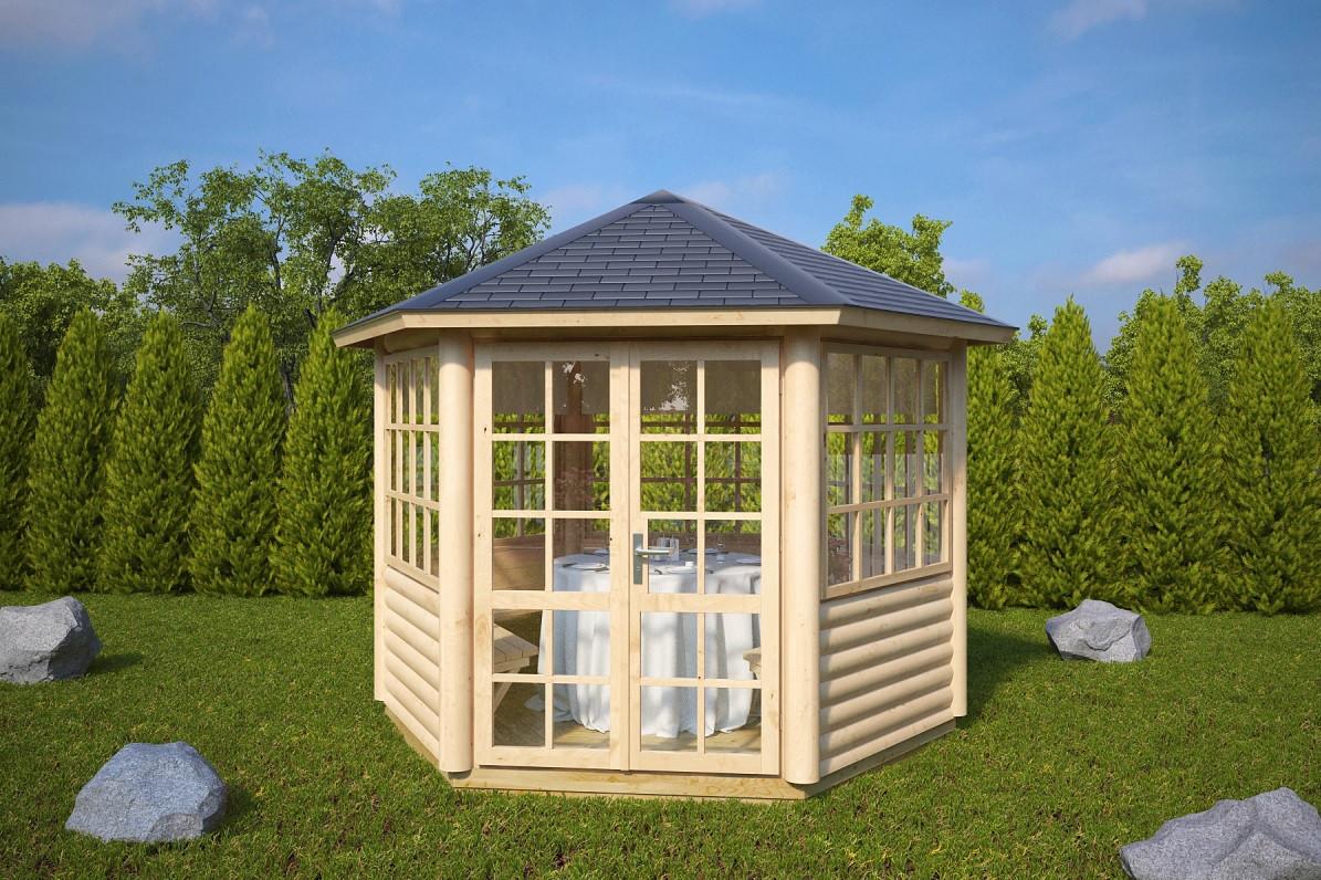 Будиночок садівника з профільованого бруса 2.6х3 м. низька ціна від виробника