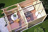 Беседка деревянная из профилированного бруса 3.8х5.6 м. низкая цена от производителя, фото 4