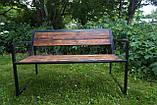 Скамейка парковая стиле LOFT (Street Bench - 35), фото 2