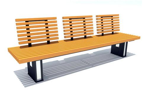 Паркова лава стилі LOFT (Street Bench - 47)