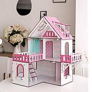 """""""МИНИ КОТТЕДЖ"""" кукольный домик NestWood для LOL, розовый + мебель 9 ед, фото 2"""