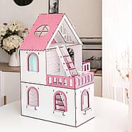 """""""МИНИ КОТТЕДЖ"""" кукольный домик NestWood для LOL, розовый + мебель 9 ед, фото 3"""