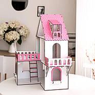 """""""МИНИ КОТТЕДЖ"""" кукольный домик NestWood для LOL, розовый + мебель 9 ед, фото 4"""