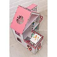 """""""МИНИ КОТТЕДЖ"""" кукольный домик NestWood для LOL, розовый + мебель 9 ед, фото 5"""