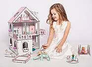 """""""МИНИ КОТТЕДЖ"""" кукольный домик NestWood для LOL, розовый + мебель 9 ед, фото 7"""