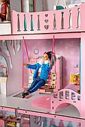 """""""ЛЮКС"""" кукольный домик NestWood для Барби, без мебели, розовый, фото 3"""