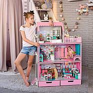 """""""ЛЮКС"""" кукольный домик NestWood для Барби, без мебели, розовый, фото 4"""