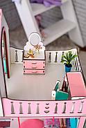 """""""ЛЮКС"""" кукольный домик NestWood для Барби, без мебели, розовый, фото 5"""
