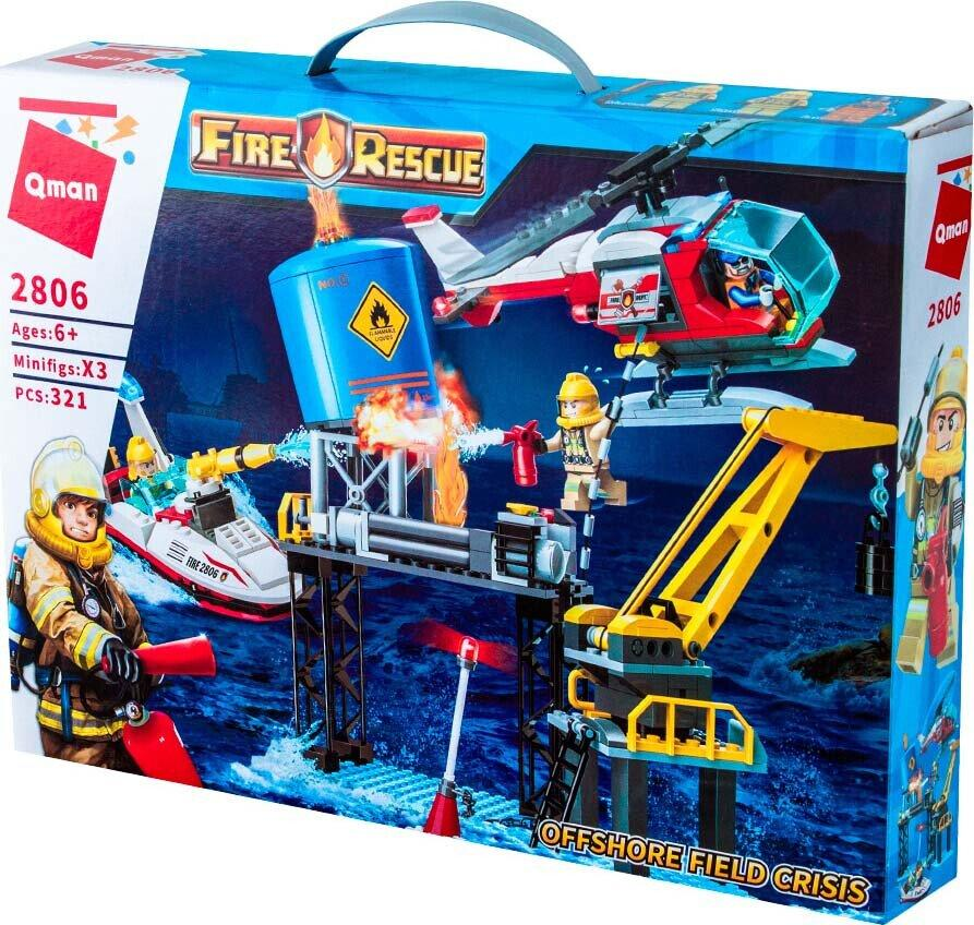 Конструктор Пожарная техника Qman Brick 2806 321 деталь