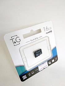 Карта памяти Micro SD 16Gb T&G Class 10 без ад. (UHS-1)