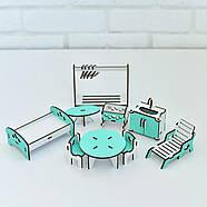 """""""Базовый"""" набор кукольной мебели NestWood для LOL, мятный, фото 2"""