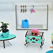 """""""Базовый"""" набор кукольной мебели NestWood для LOL, мятный, фото 4"""