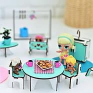 """""""Базовый"""" набор кукольной мебели NestWood для LOL, мятный, фото 5"""