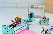 """""""Базовый"""" набор кукольной мебели NestWood для LOL, мятный, фото 6"""