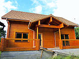 Двоповерховий дерев'яний будиночок з профільованого клеєного бруса, фото 2