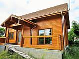Двоповерховий дерев'яний будиночок з профільованого клеєного бруса, фото 3