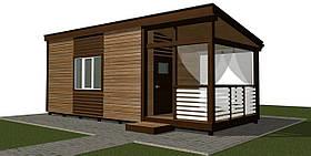 Мобильный дом для временного проживания 8.8х3.4 м.