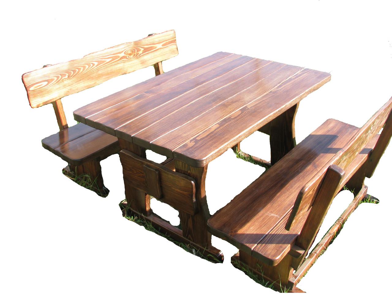 Детские деревянные столики со стульчиками и лавками от производителя