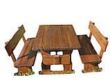 Детские деревянные столики со стульчиками и лавками от производителя, фото 2