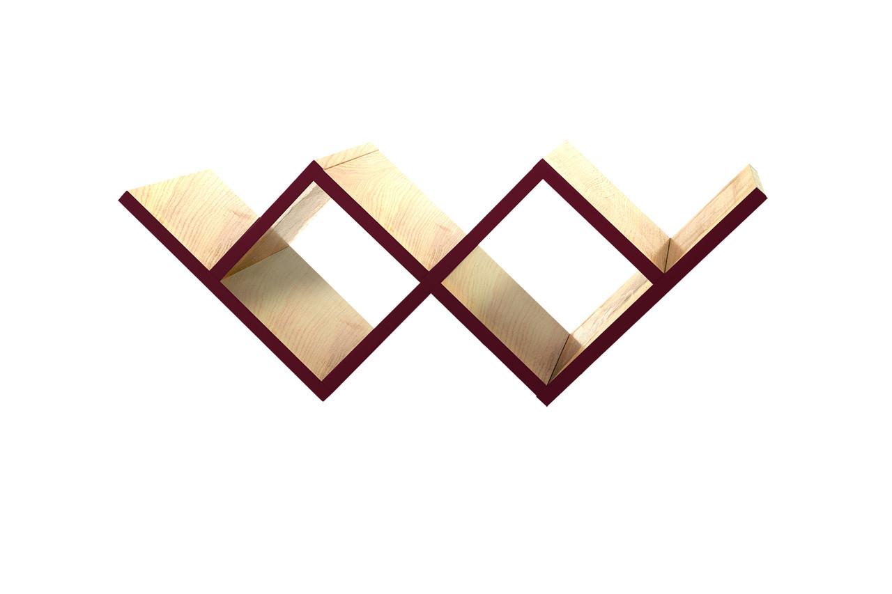 Навесная настенная полка в стиле LOFT (Wall Shelf - 93)