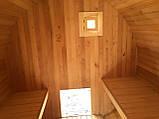 Деревянная баня бочка круглая 4,0х2,15 м из термобруса, фото 4