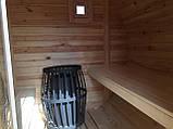 Деревянная баня бочка круглая 4,0х2,15 м из термобруса, фото 5