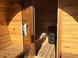 Деревянная баня бочка круглая 4,0х2,15 м из термобруса, фото 6