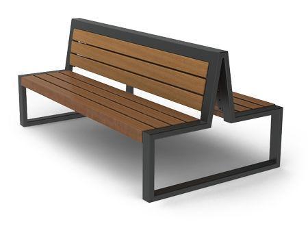 Паркова лава подвійна у стилі LOFT (Street Bench - 12)
