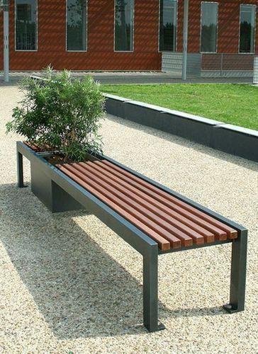Скамейка парковая в стиле LOFT (Street Bench - 14)
