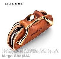Ключница чехол для ключей Premium Modern CF43Q Brown. Ключниця чохол для ключів