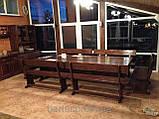 Комплект меблів з масивної деревини 3200х1200 від виробника, фото 2