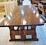 Комплект меблів з масивної деревини 3200х1200 від виробника, фото 3