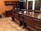 Комплект меблів з масивної деревини 3200х1200 від виробника, фото 4