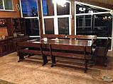 Комплект меблів з масивної деревини 3200х1200 від виробника, фото 5