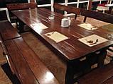 Комплект меблів з масивної деревини 3200х1200 від виробника, фото 6