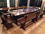 Комплект меблів з масивної деревини 3200х1200 від виробника, фото 7
