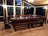 Комплект меблів з масивної деревини 3200х1200 від виробника, фото 8