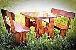 Комплект деревянной мебели 1100*800 для кафе, дачи от производителя, фото 2