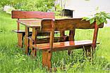 Комплект деревянной мебели 1100*800 для кафе, дачи от производителя, фото 3