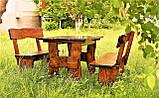 Комплект деревянной мебели 1100*800 для кафе, дачи от производителя, фото 4