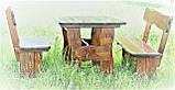 Комплект деревянной мебели 1100*800 для кафе, дачи от производителя, фото 5