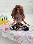 Комплект постельного белья для мебели NestWood (СПАЛЬНЯ) в кукольный домик для Барби, 4 ед., фото 5