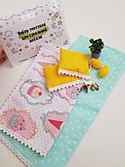 Комплект постельного белья для мебели NestWood (СПАЛЬНЯ) в кукольный домик для Барби, 4 ед., фото 7