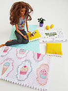 Комплект постельного белья для мебели NestWood (СПАЛЬНЯ) в кукольный домик для Барби, 4 ед., фото 8