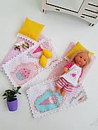 Комплект постельного белья для мебели NestWood (ДЕТСКАЯ) в кукольный домик для Барби, 6 ед., фото 2