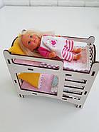 Комплект постельного белья для мебели NestWood (ДЕТСКАЯ) в кукольный домик для Барби, 6 ед., фото 3